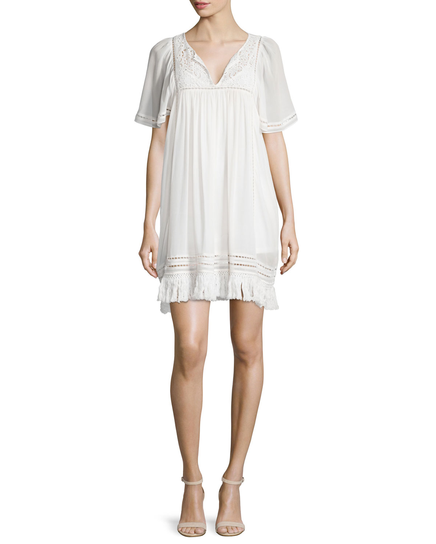 Joie Rainey Crepe Georgette Dress, Size: SMALL, Porcelain
