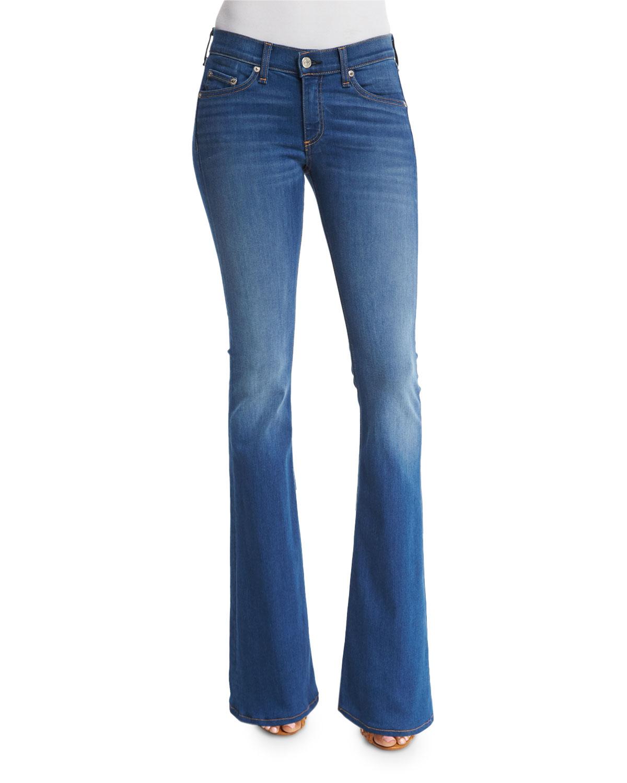 rag & bone/JEAN Mid-Rise Bell-Bottom Jeans, Houston, Size: 28