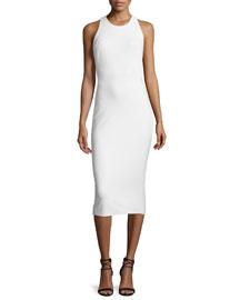 Darla Sleeveless Midi Sheath Dress, Ivory