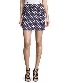 Twill Clover Skirt, Multicolor