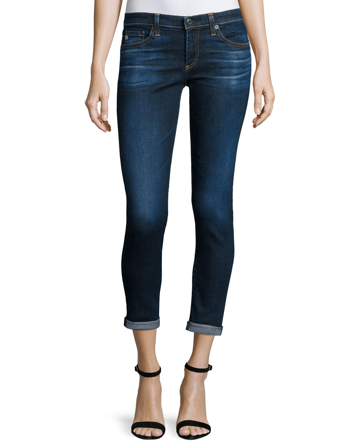 AG The Stilt Roll-Up Jeans, 2 Years Beginning, Size: 29