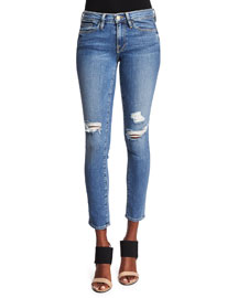 Le Skinny de Jeanne Distressed Jeans, Laurel