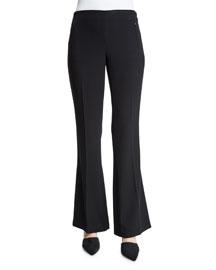 Marg Flare-Leg Pants, Black