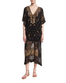 Lorsea V-Neck Embellished Maxi Dress, Black
