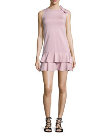 Ruffled Dress W/Side-Bow Detail, Lilac