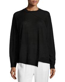 Lightweight Asymmetric Merino Sweater