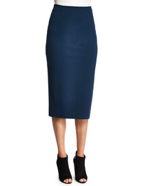 Ponte Pencil Skirt, Marine