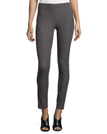 Stretch Gabardine Leggings, Slate
