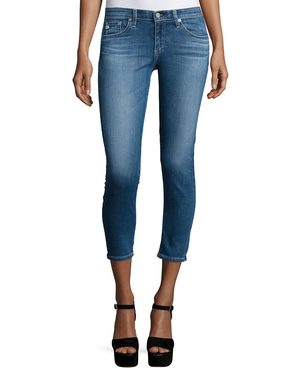 AG The Stilt Cropped Jeans, 13 Years Solitude, Size: 26