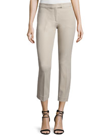 Finley Slim-Fit Ankle Pants, Ivory