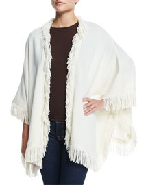 Wool-Blend Shawl W/ Fringe