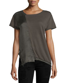 Johnny Short-Sleeve Combo Top, Space