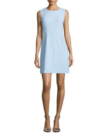 Carrie Sleeveless Sheath Dress, Blue Cloud