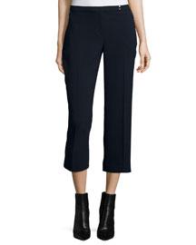 Carla Straight-Leg Cropped Pants, Stargazer