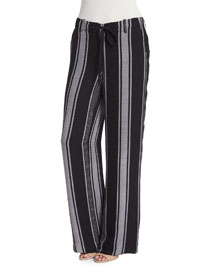 Esty Striped Silk Pants