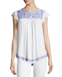 Rankin Embroidered Top