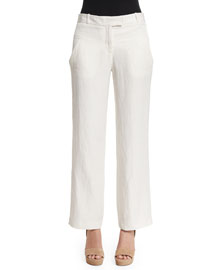 Windmill Wide-Leg Voile Pants, Ivory