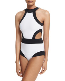 Holly High-Neck Cutout One-Piece Swimsuit