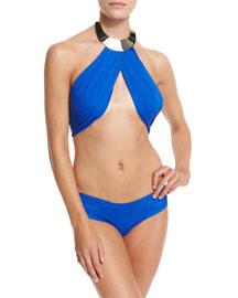 Sally Crossover Halter Two-Piece Bikini