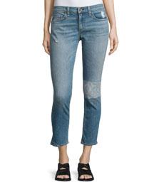 Tomboy Slim-Leg Cropped Jeans, Ludlow