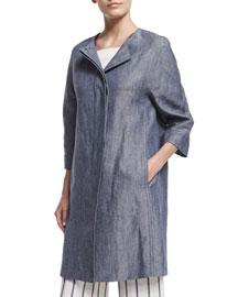 Ellinor Linen Jean Jacket
