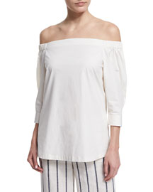 Joscla Light Poplin Off-The-Shoulder Top