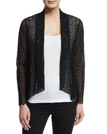 Iryna Embroidered Lace Draped Jacket