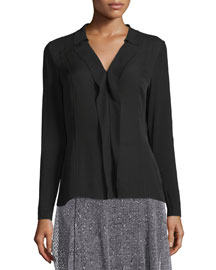 Wren V-Neck Layered-Front Blouse