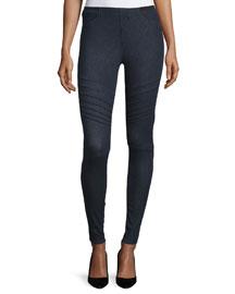 Mallory Moto Skinny Jeans, Indigo