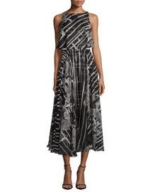 Sleeveless Printed Popover Dress