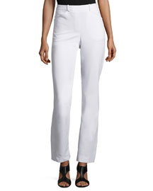Slim Boot-Cut Pants with Side Slits