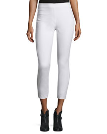 Simone Stretch Jersey Leggings, White