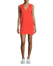 Phoebe Sleeveless Crepe Dress, Sunburst