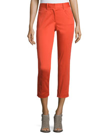 Audrey Cropped Stretch Pants, Sunburst