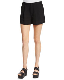 Relaxed-Leg Shorts, Black