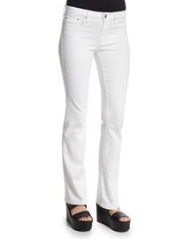 Charlotte Slim-Straight Pants, Optic White