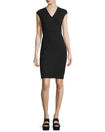 Bib-Front Sheath Dress