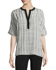Interlace Printed Silk Tunic