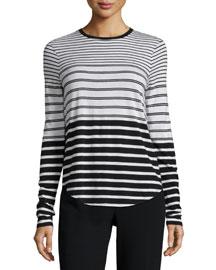 Engineered-Stripe Long-Sleeve Shirt