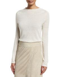 Lightweight Cashmere-Blend Pullover Sweater