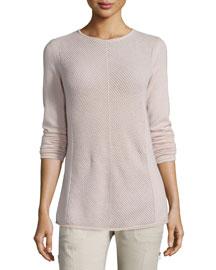 Chevron-Stitch Cashmere Sweater