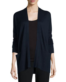 Cashmere-Silk Open-Front Cardigan