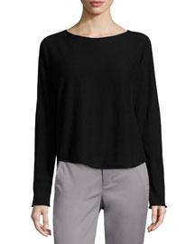 Cashmere Bateau-Neck Pullover