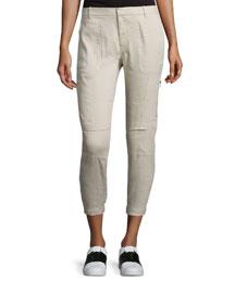 Linen-Blend Cargo Pants