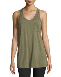 Classic Racerback Tank w/ Pocket, Fatigue