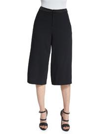 Marlena Low-Rise Gaucho Pants, Black