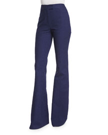 Nicola Wide-Leg Pants, Midnight