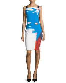 Lou Lou Sleeveless Abstract Dress, Multi Colors