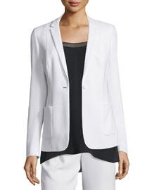 Wendy One-Button Jacket, Black