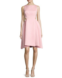 Ali Sleeveless Side-Cutout Dress, Parfait Pink